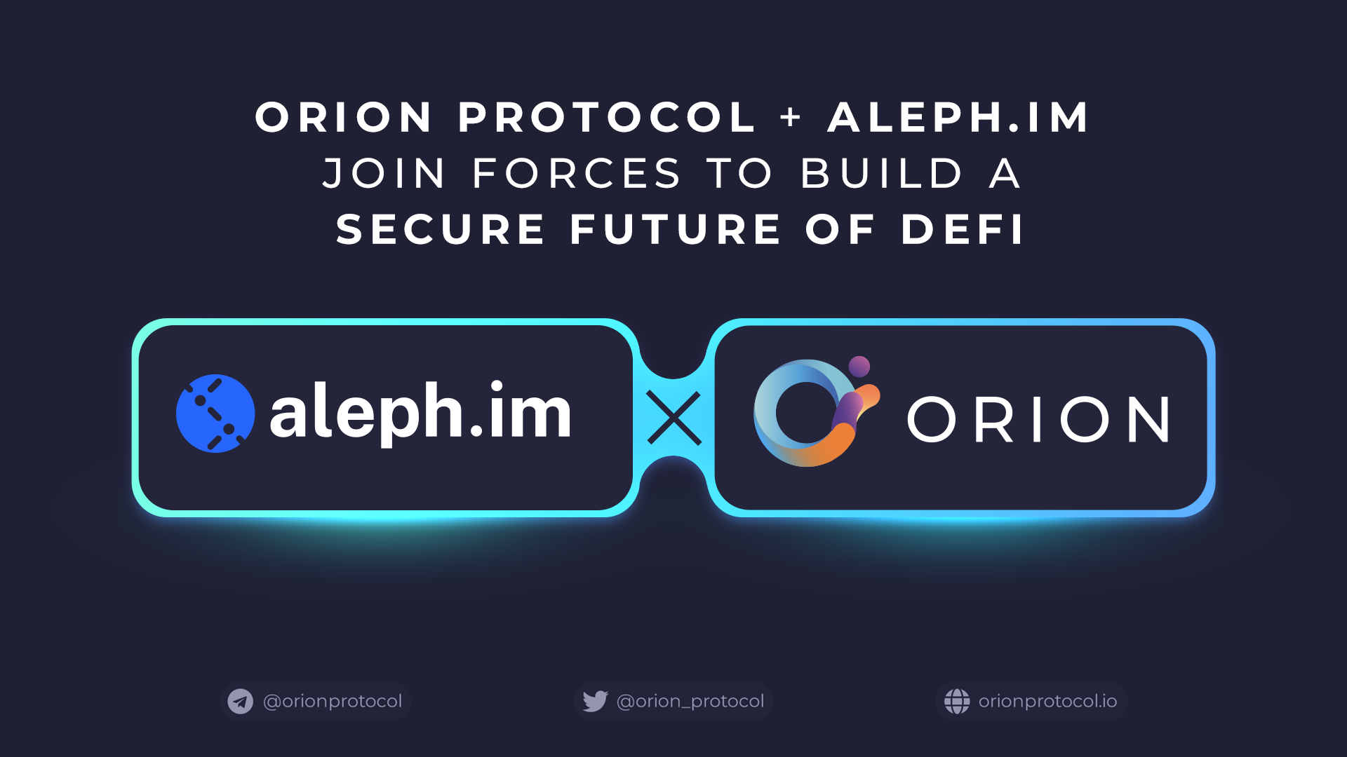 Orion Protocol + aleph.im join forces to build a secure future of DeFi