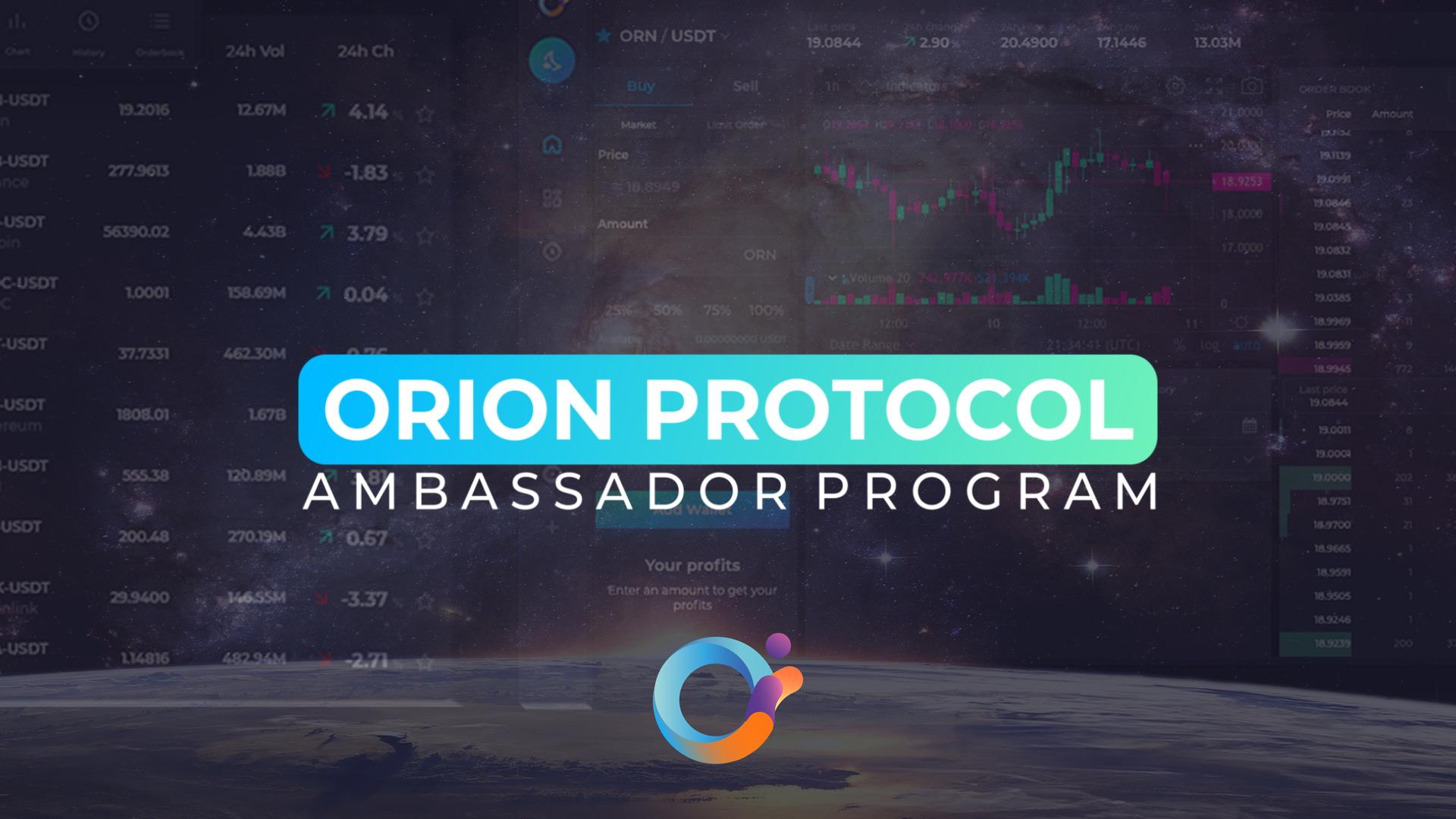 Orion Protocol Ambassadors