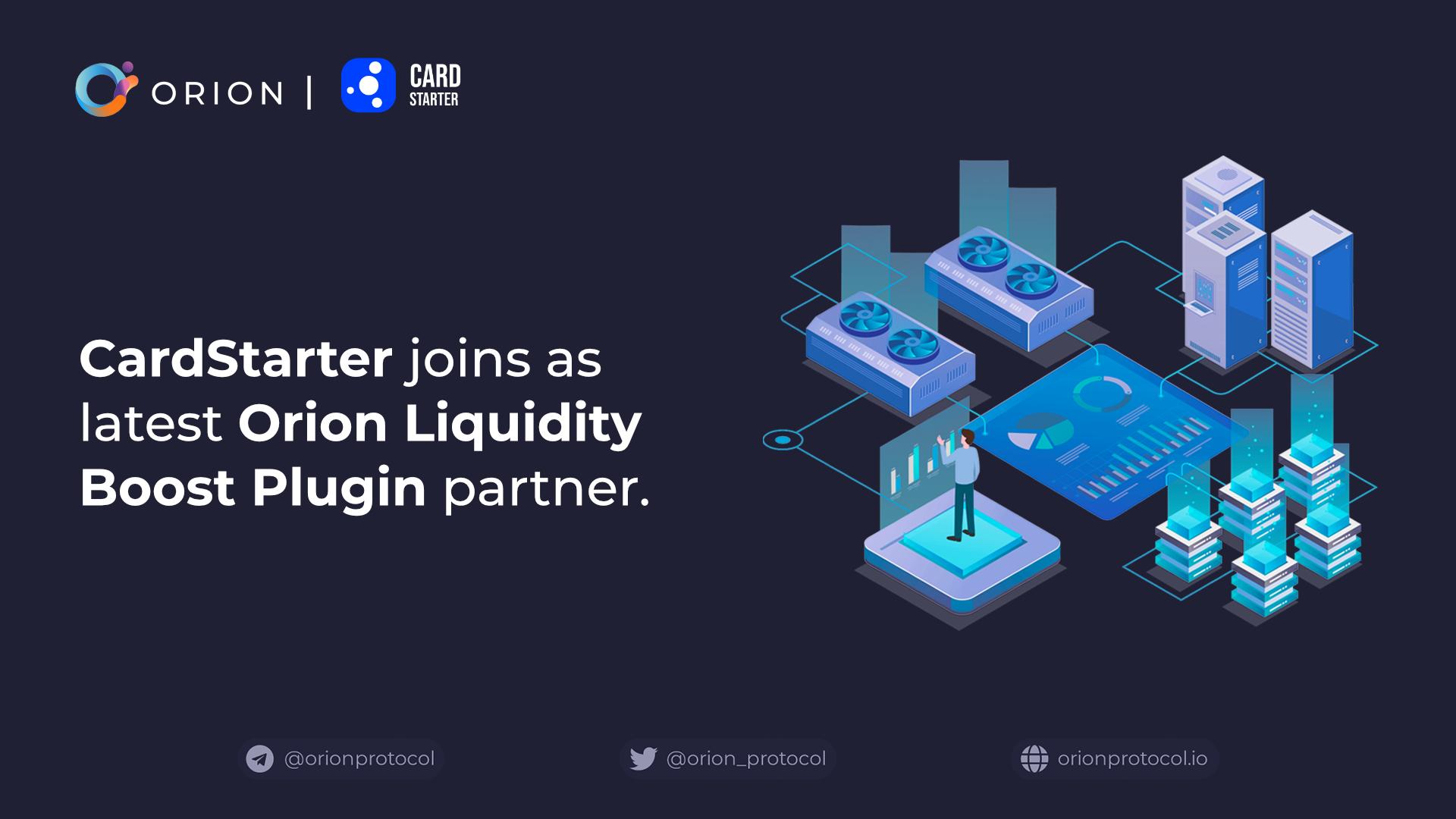 CardStarter joins as Orion Liquidity Boost Plugin partner