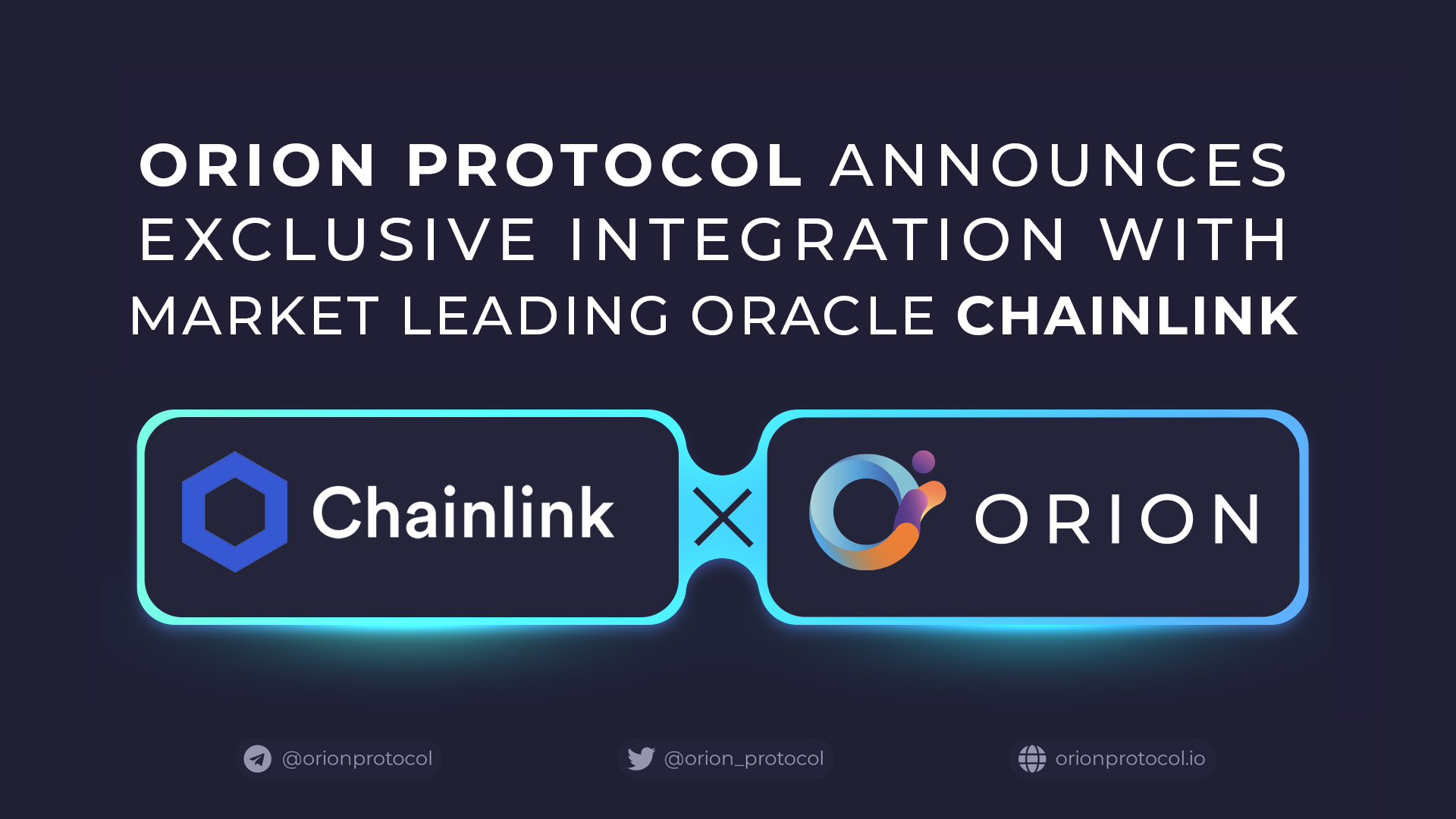 Orion Announces Exclusive Integration with Chainlink