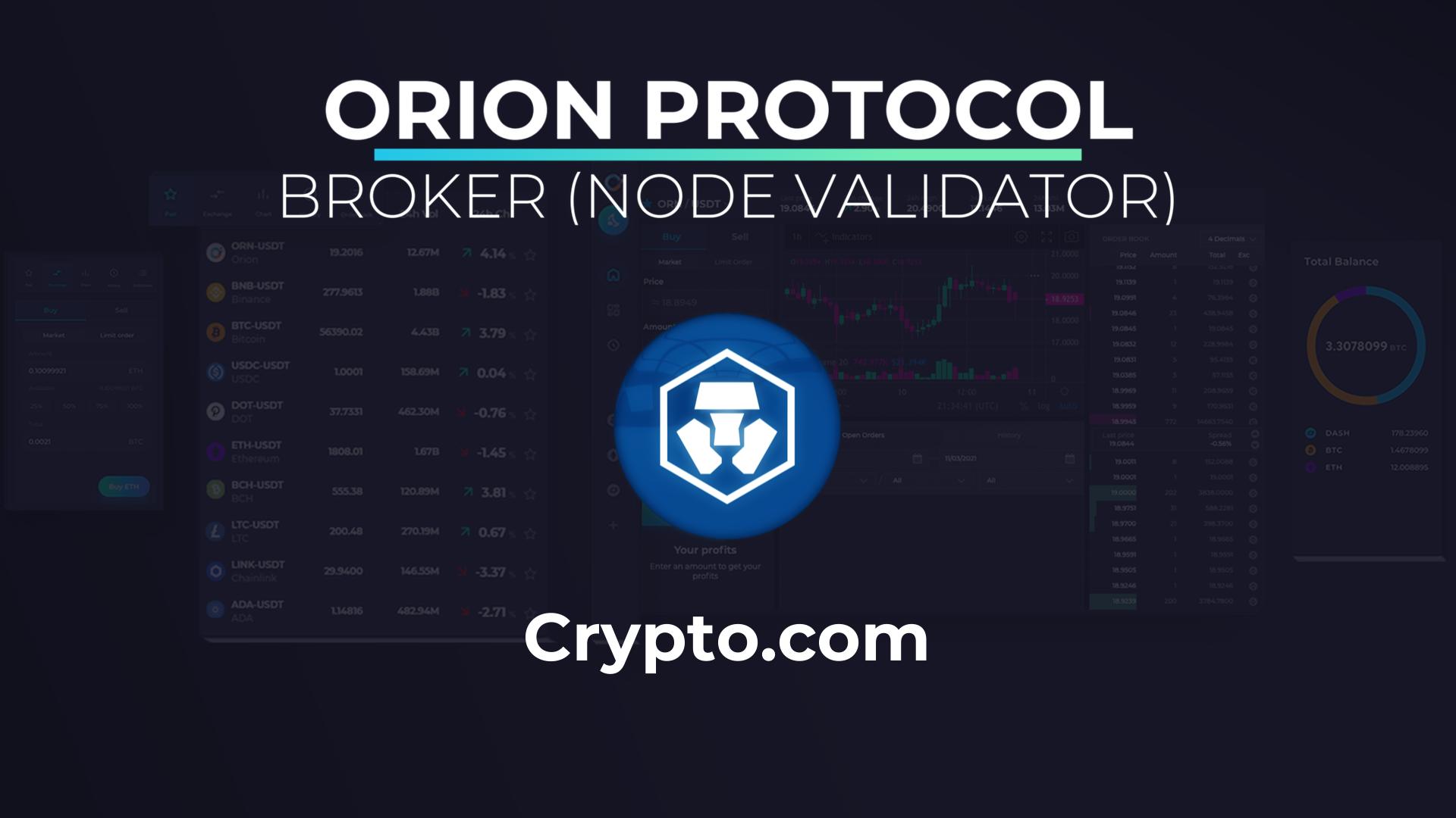 Crypto.com Broker (Node Validator)