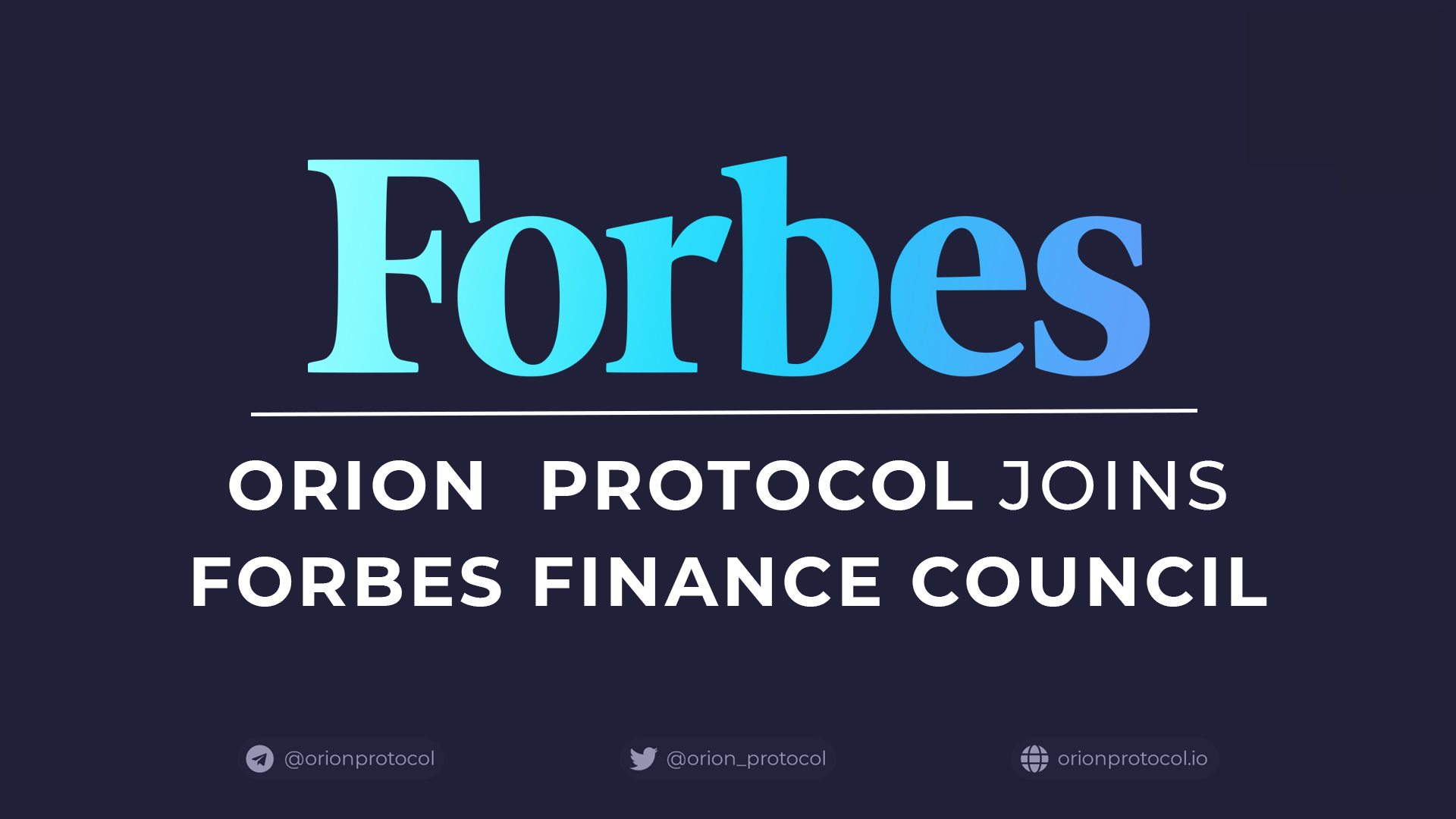 Orion Joins Forbes Finance Council