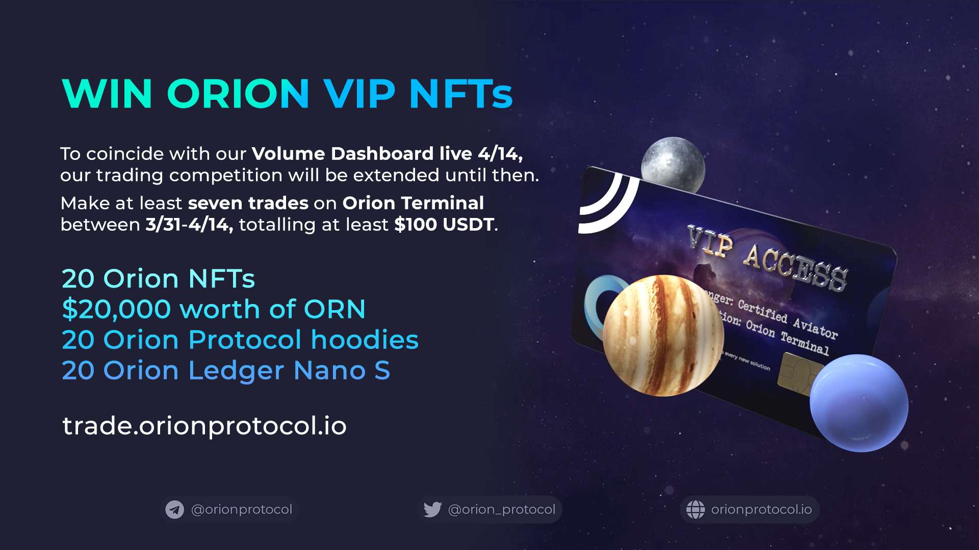 Win Orion VIP NFTs