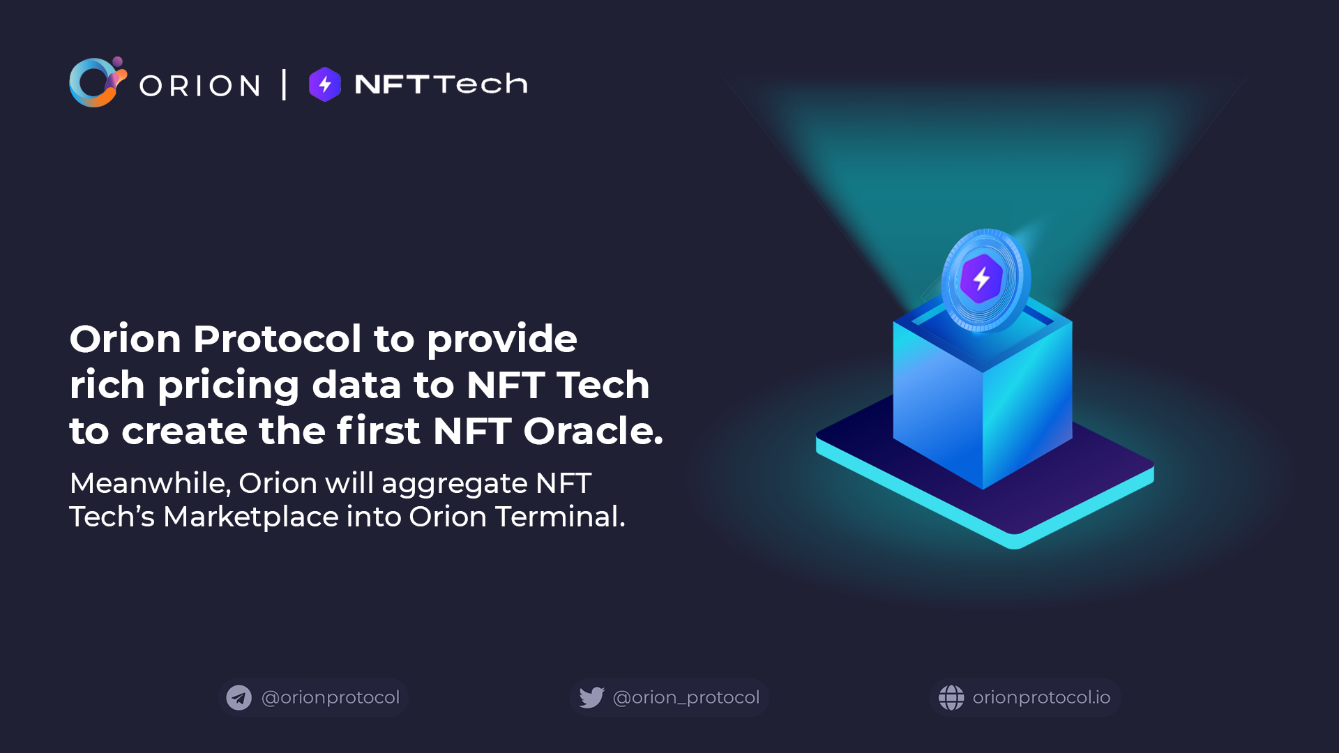 Orion partners with NFT Tech on the first NFT Oracle