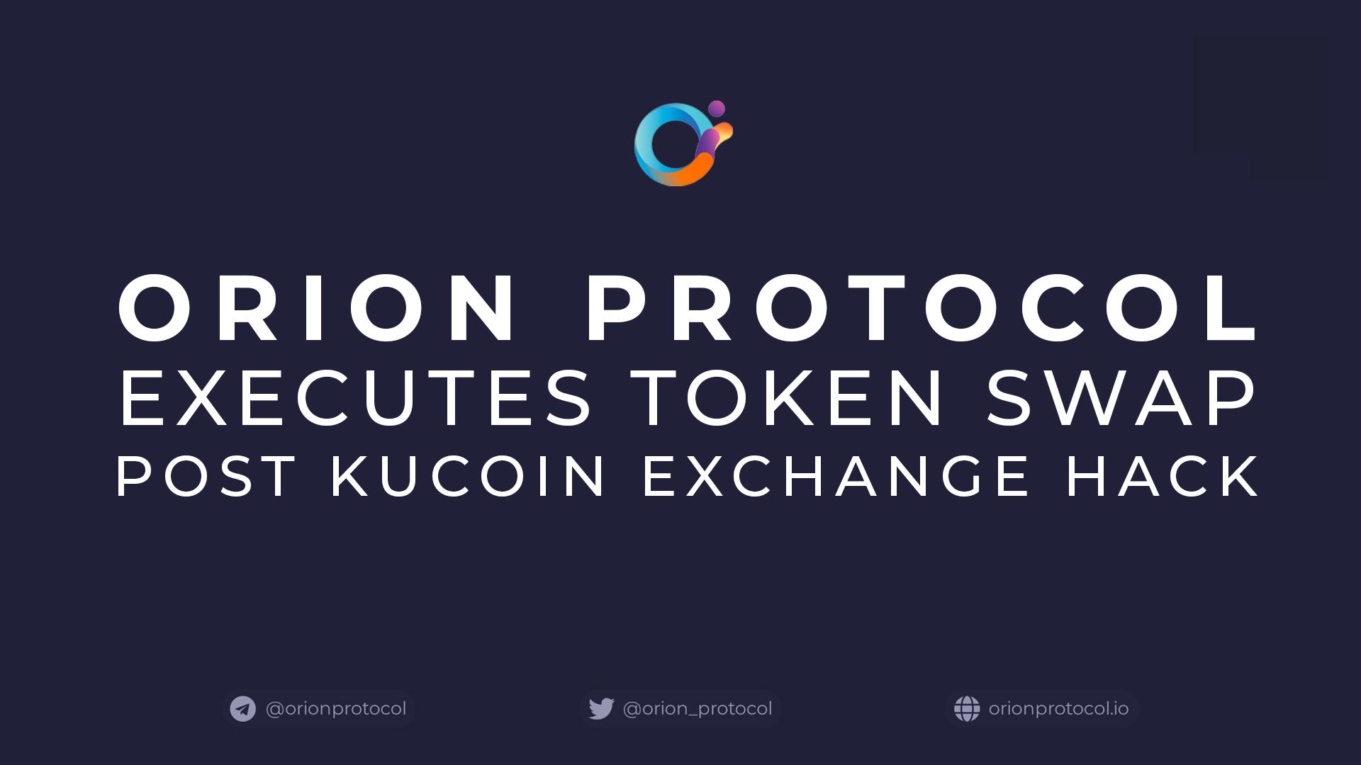 Orion Executes Token Swap