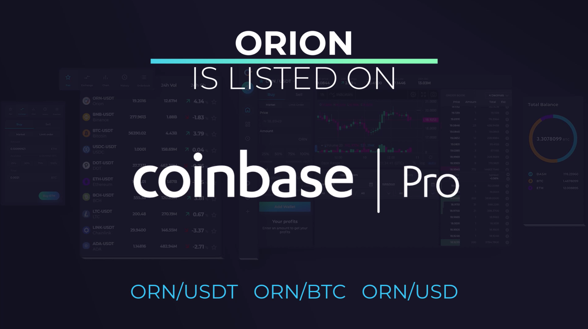 ORN is listed on Coinbase Pro