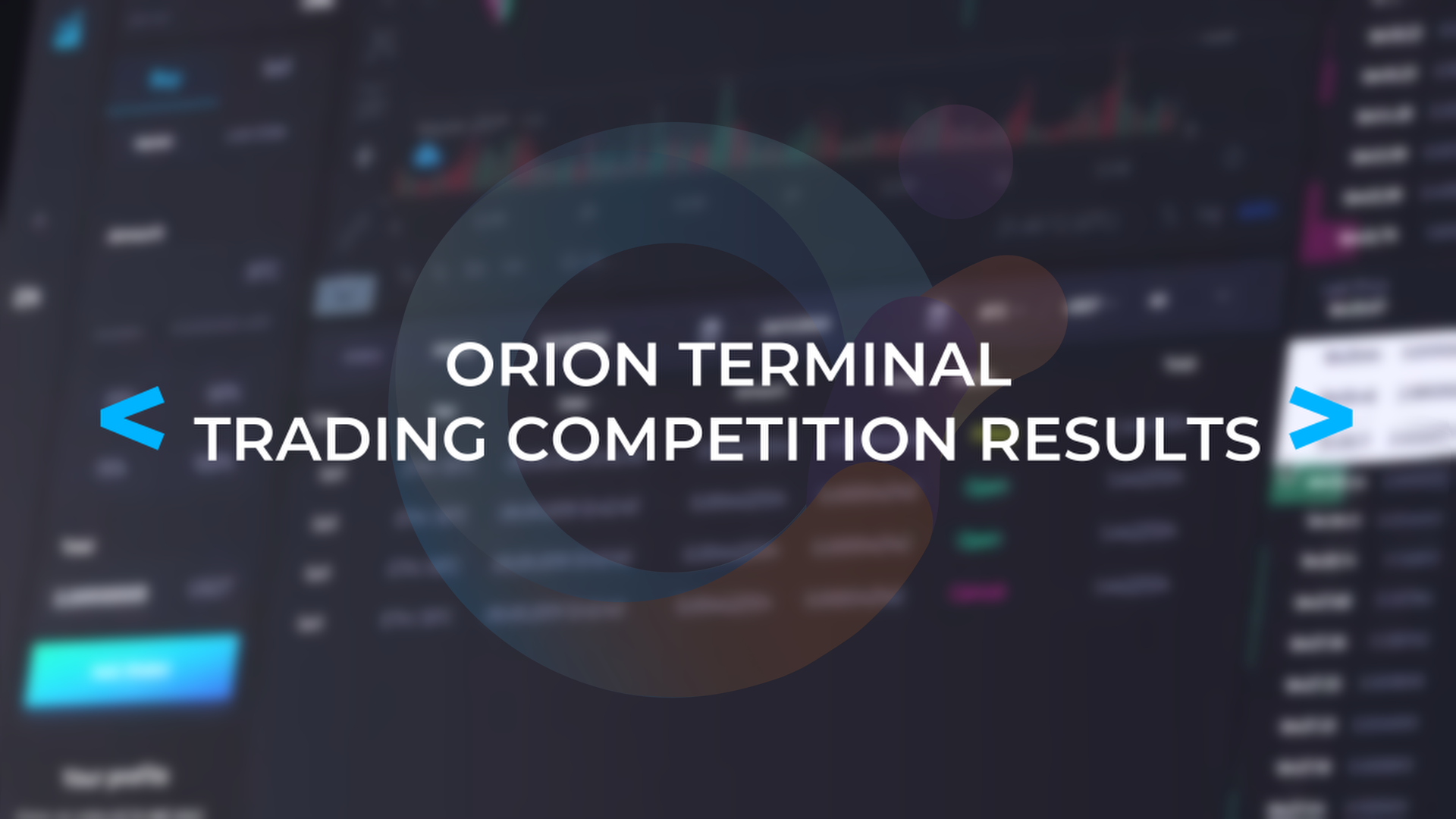 Orion Terminal Trading Competition Results