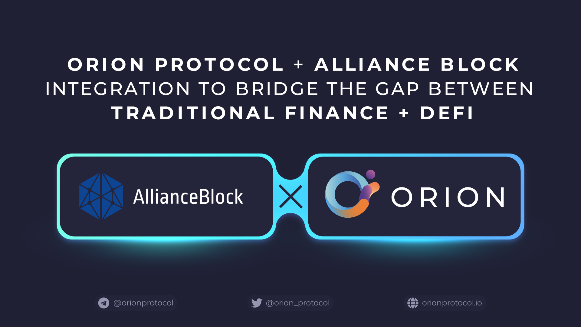 Orion Partners With AllianceBlock