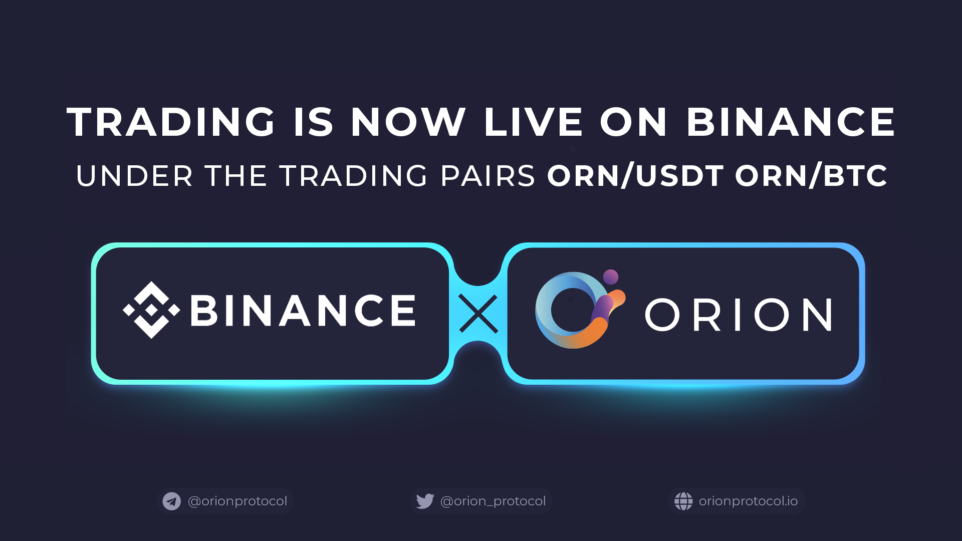ORN Listing on Binance