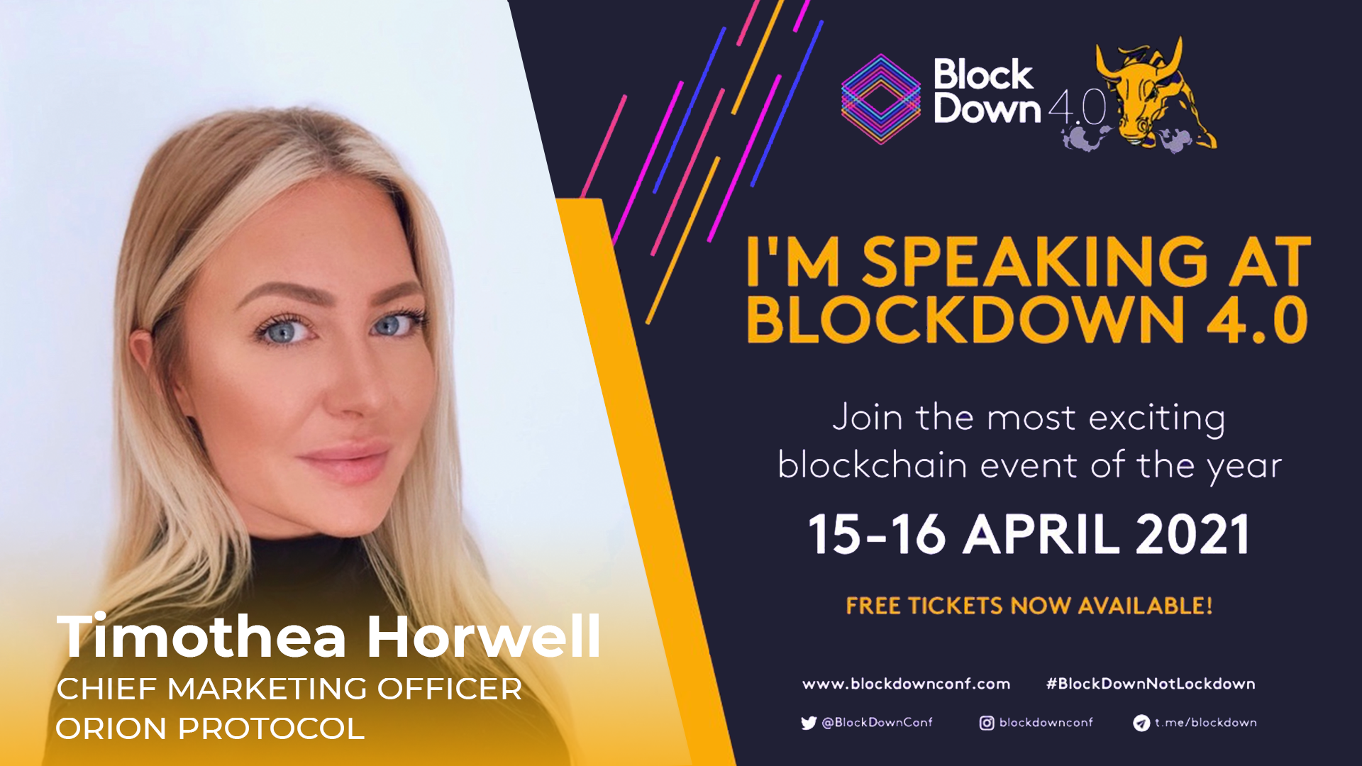 Join Orion Protocol at BlockDown 4.0