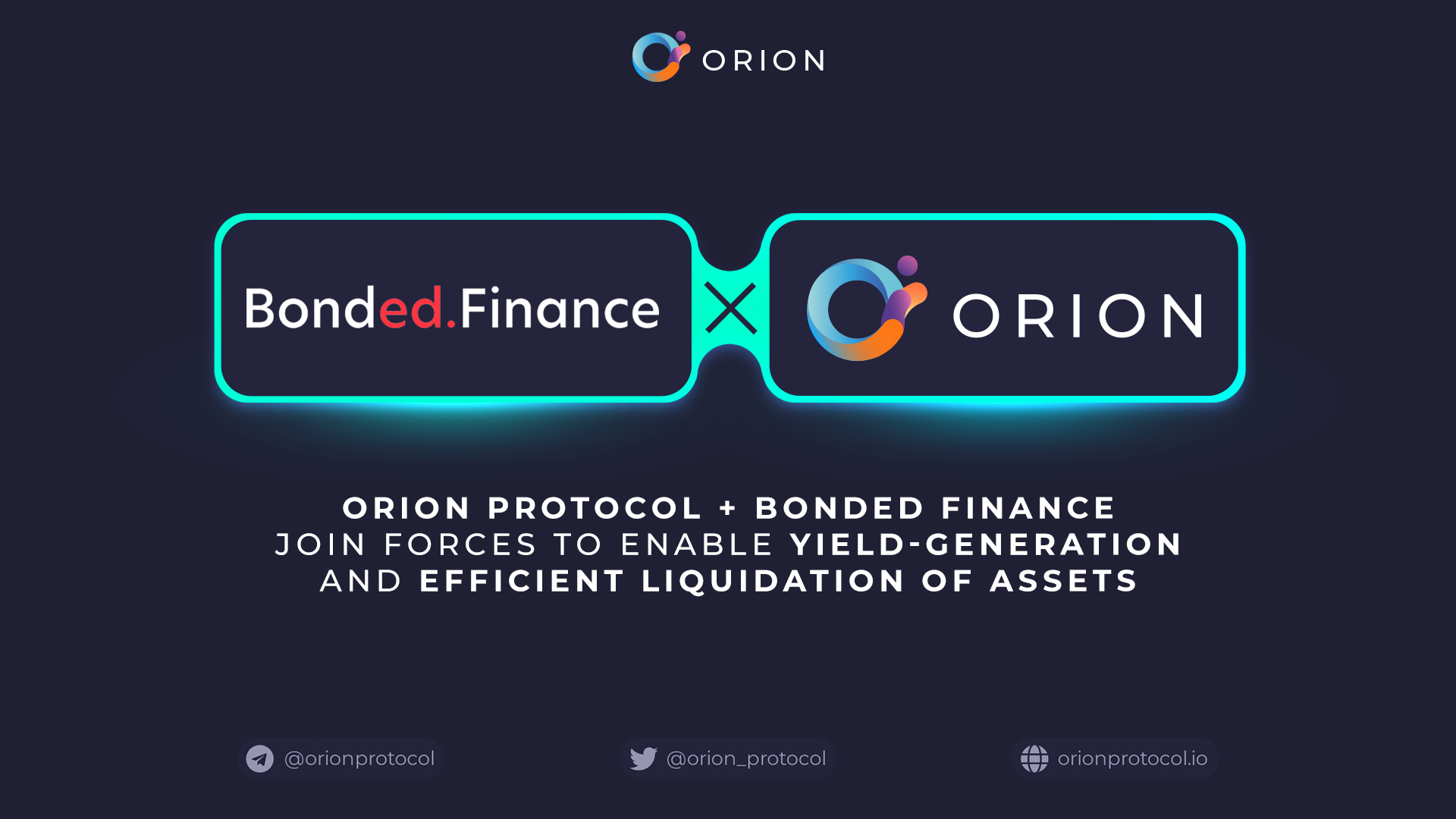 Orion Protocol + Bonded Finance Integration
