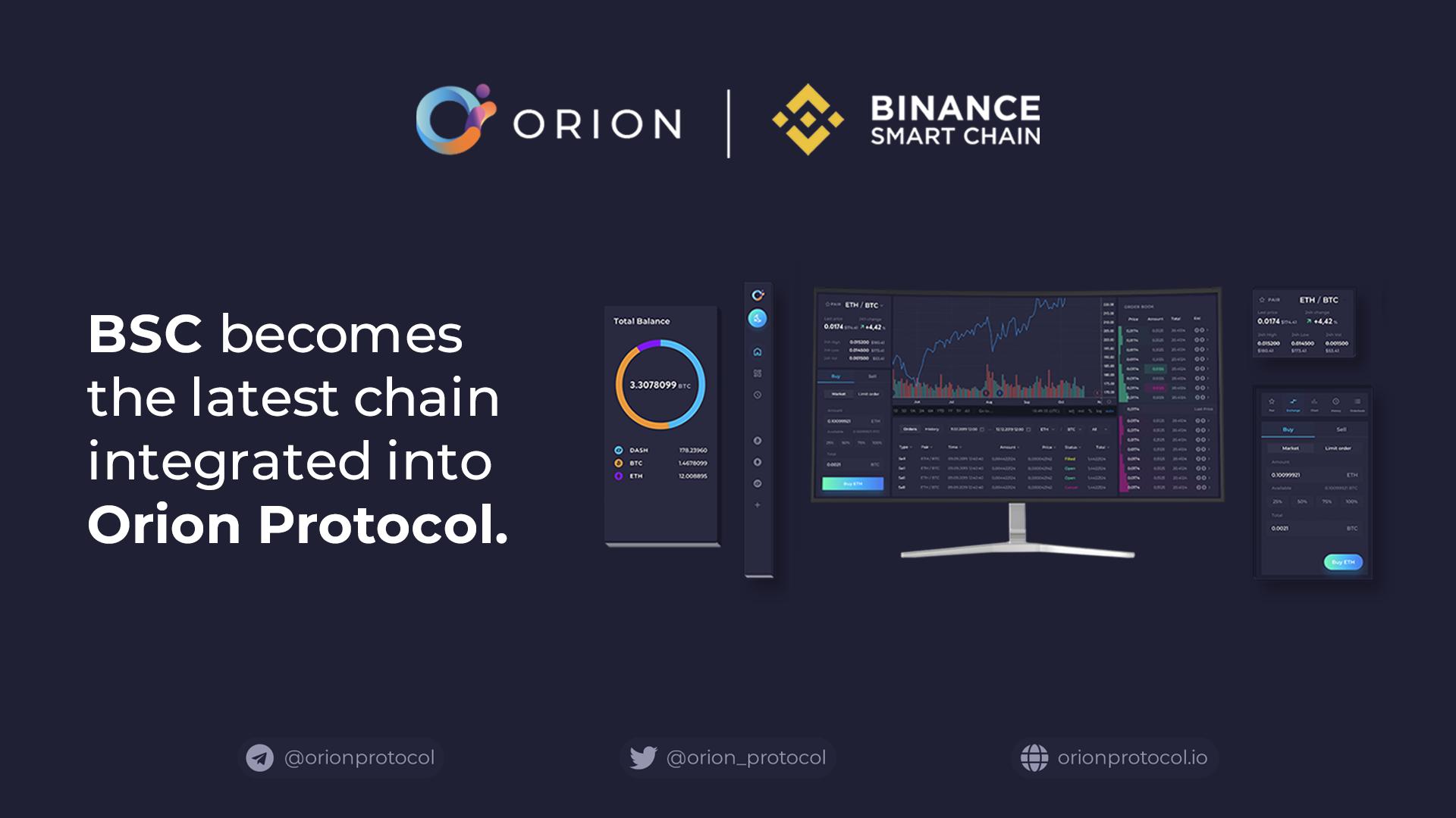 Orion integrates Binance Smart Chain