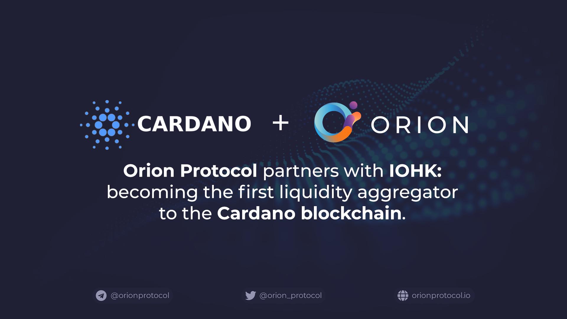 Orion Protocol to Integrate Cardano Blockchain