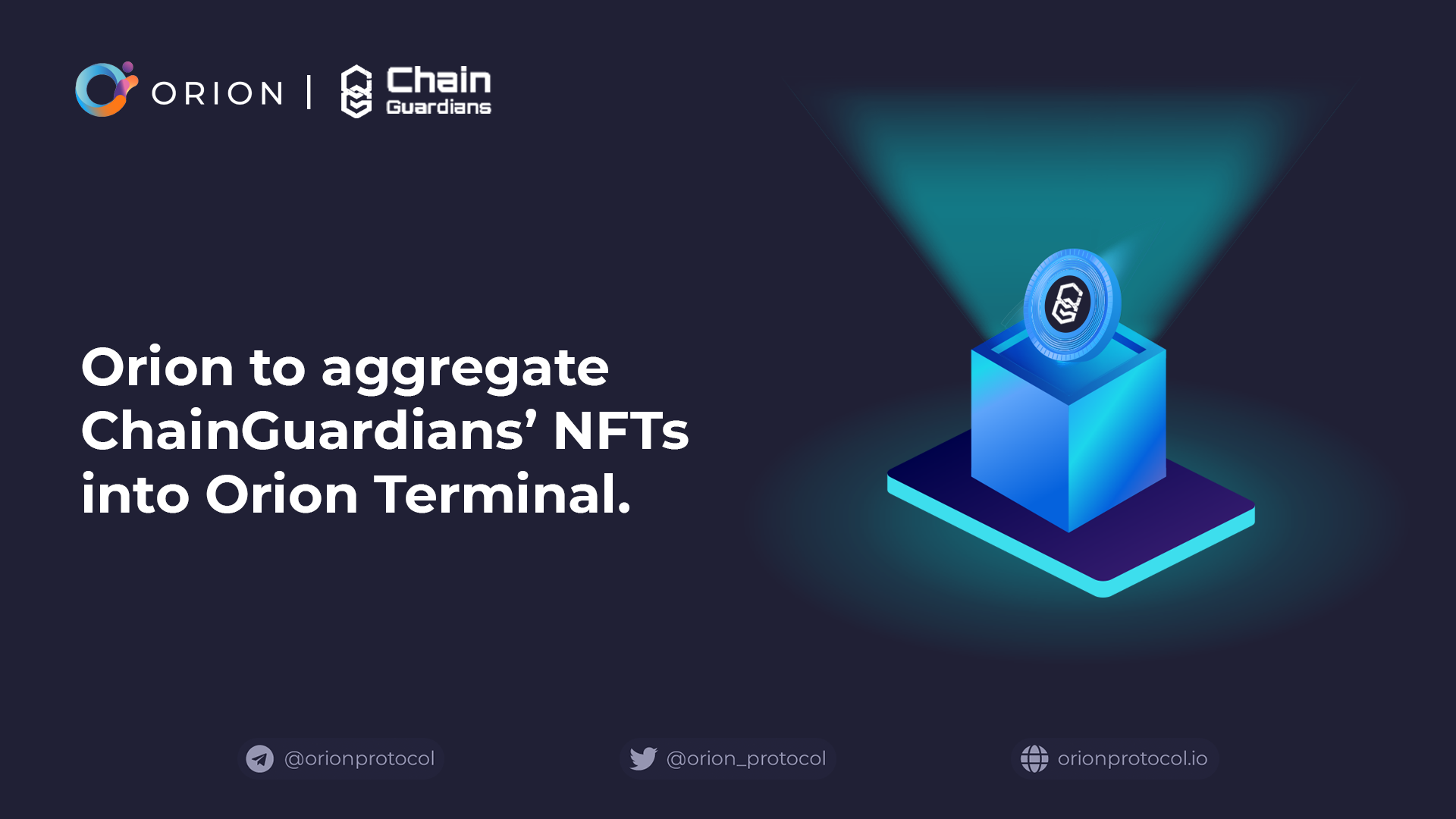 ChainGuardians integrated into Orion Terminal