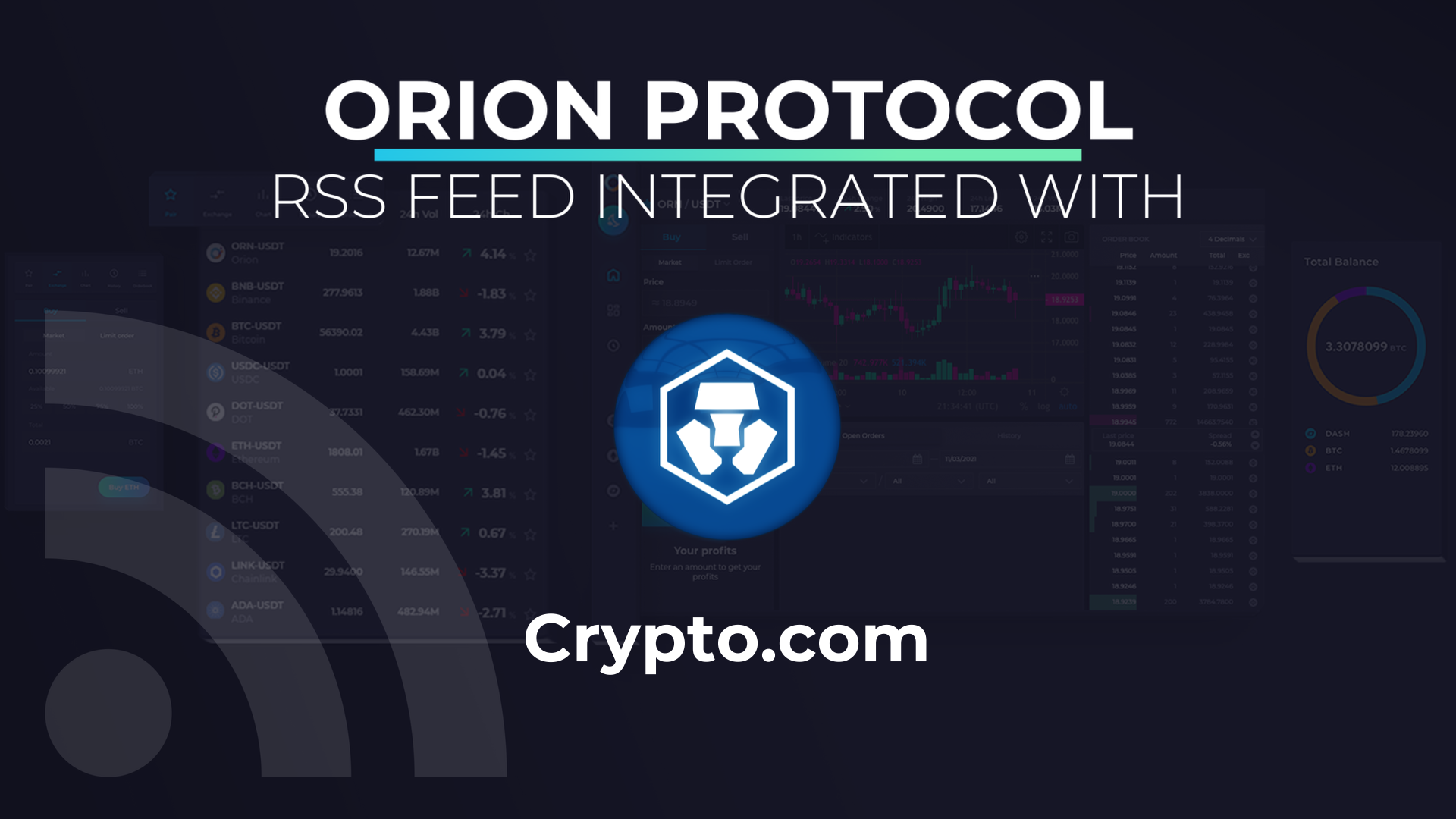 Orion Protocol's RSS feed integrated with Crypto.com