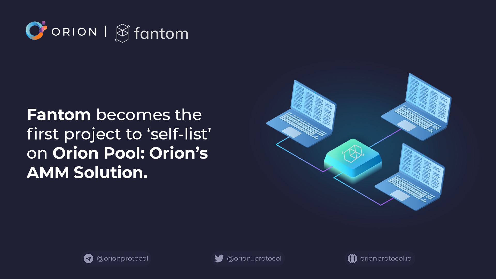 Fantom becomes the first project on Orion Pool