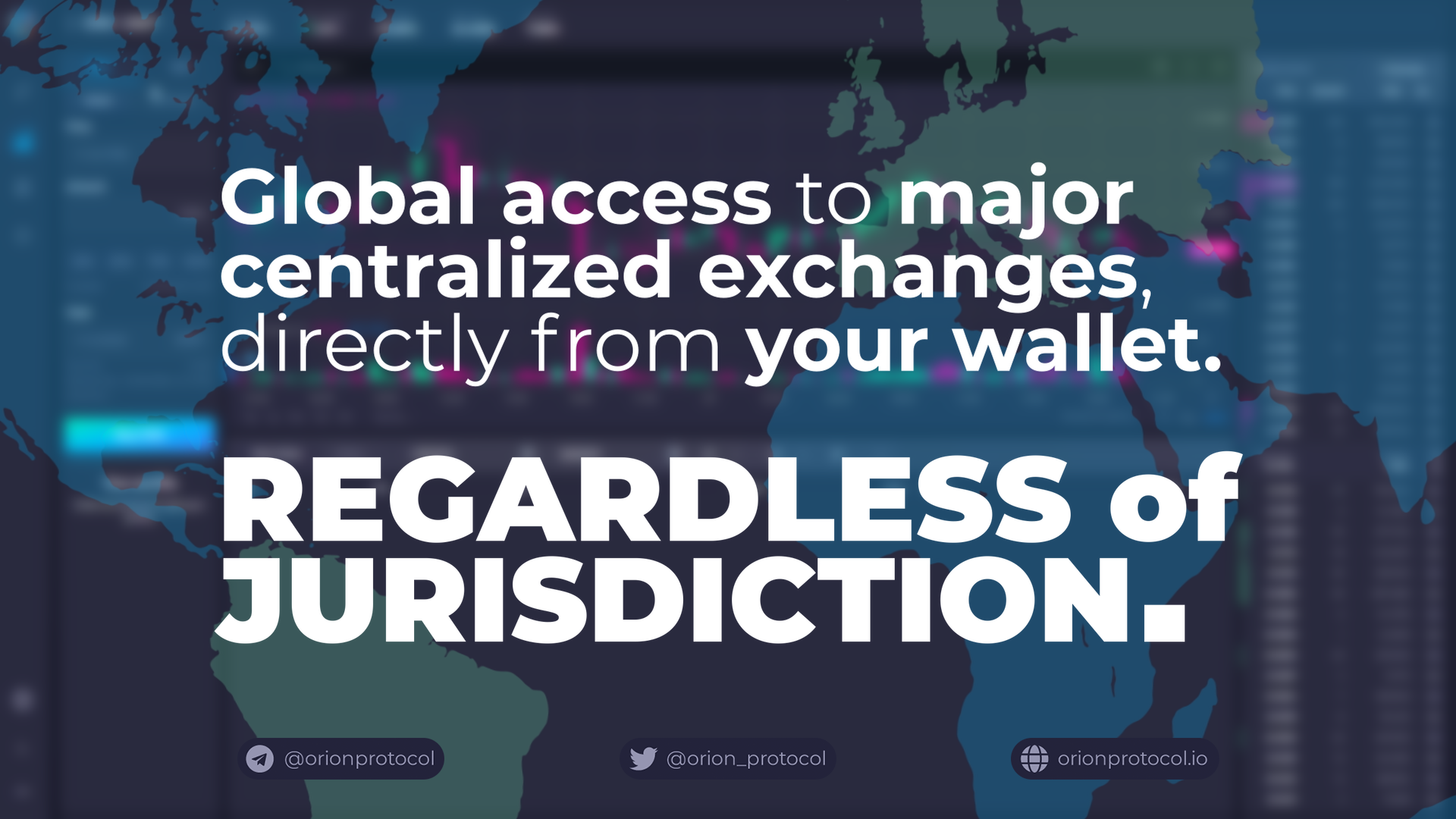 Global access to major centralized exchanges. No account, no KYC.