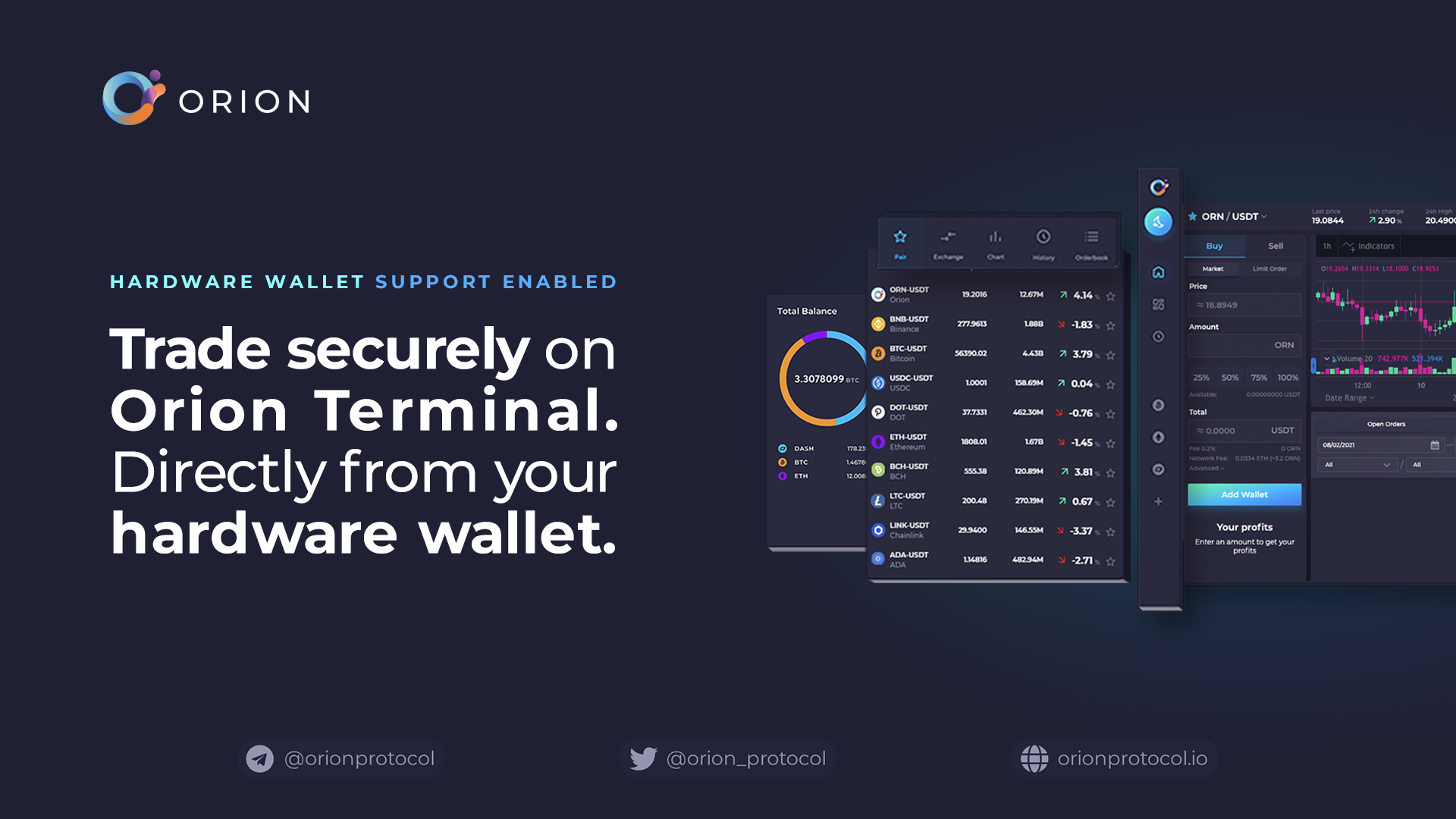 Orion Enables Hardware Wallet Support