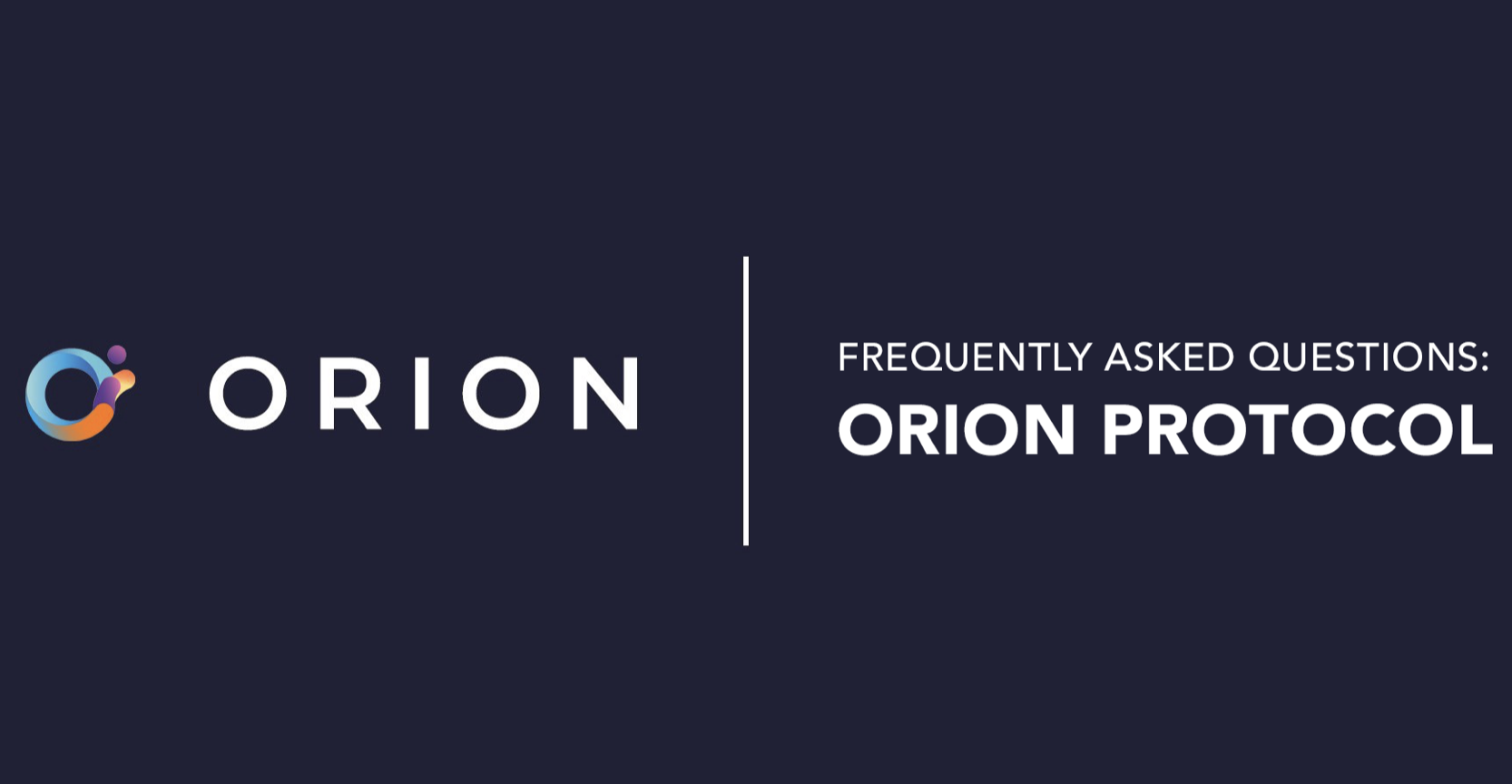 FAQs: Orion Protocol