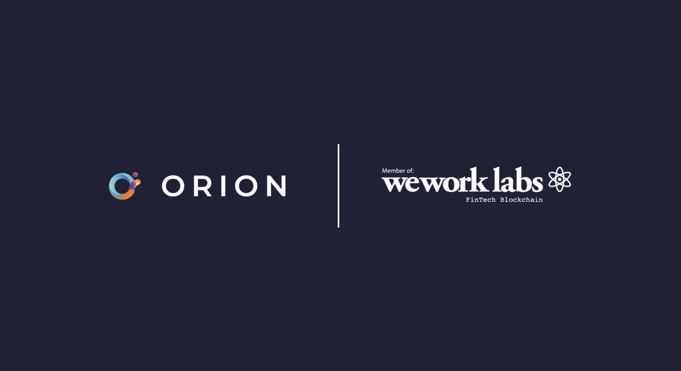 Orion joins WeWork Labs Incubator