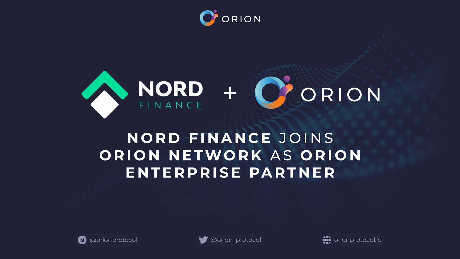 Nord Finance joins Orion Protocol Network