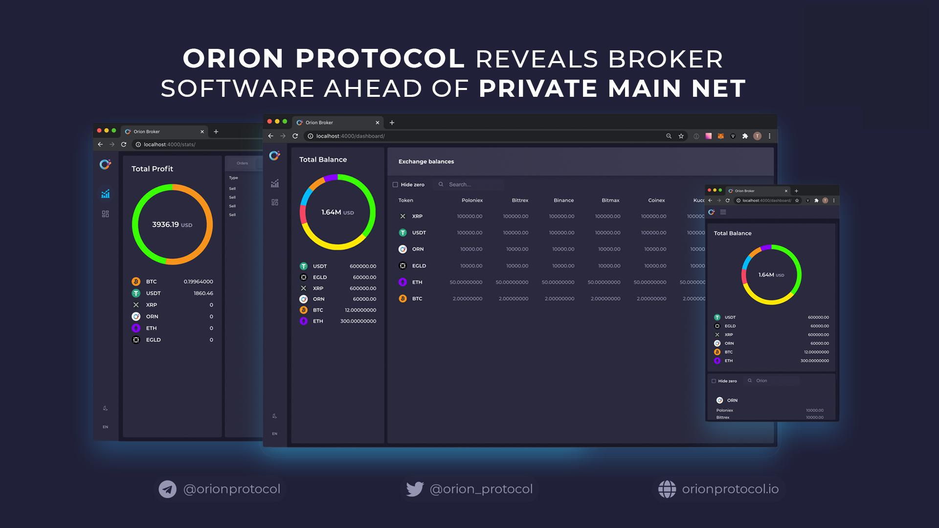 Orion Protocol Reveals Broker Software