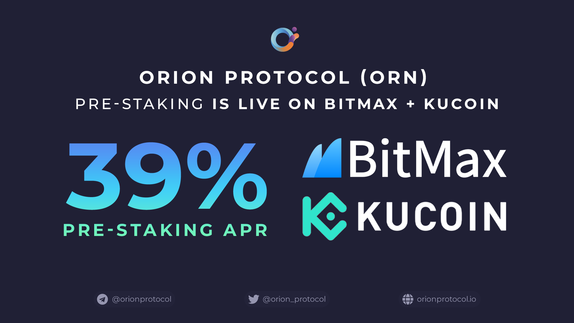 Orion's 39% APR Pre-Staking Initiative