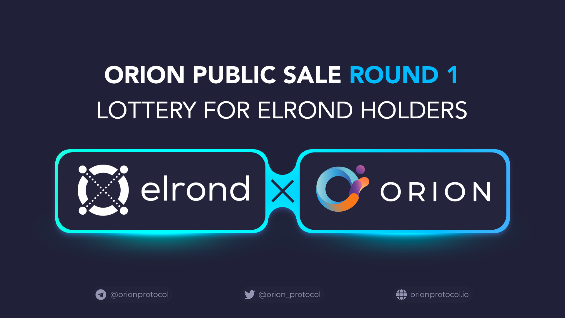 Orion's First Public Round: Elrond Lottery