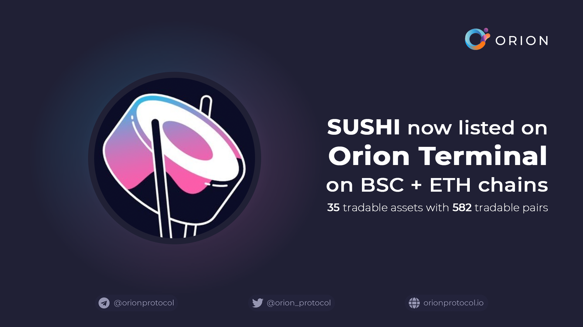 Sushi added to Orion Terminal