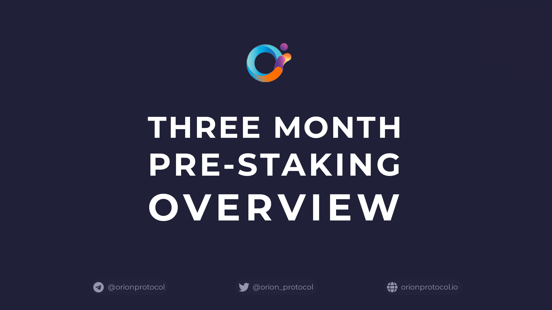 Orion Protocol Continues Pre-Staking Beyond Three Month Campaign.