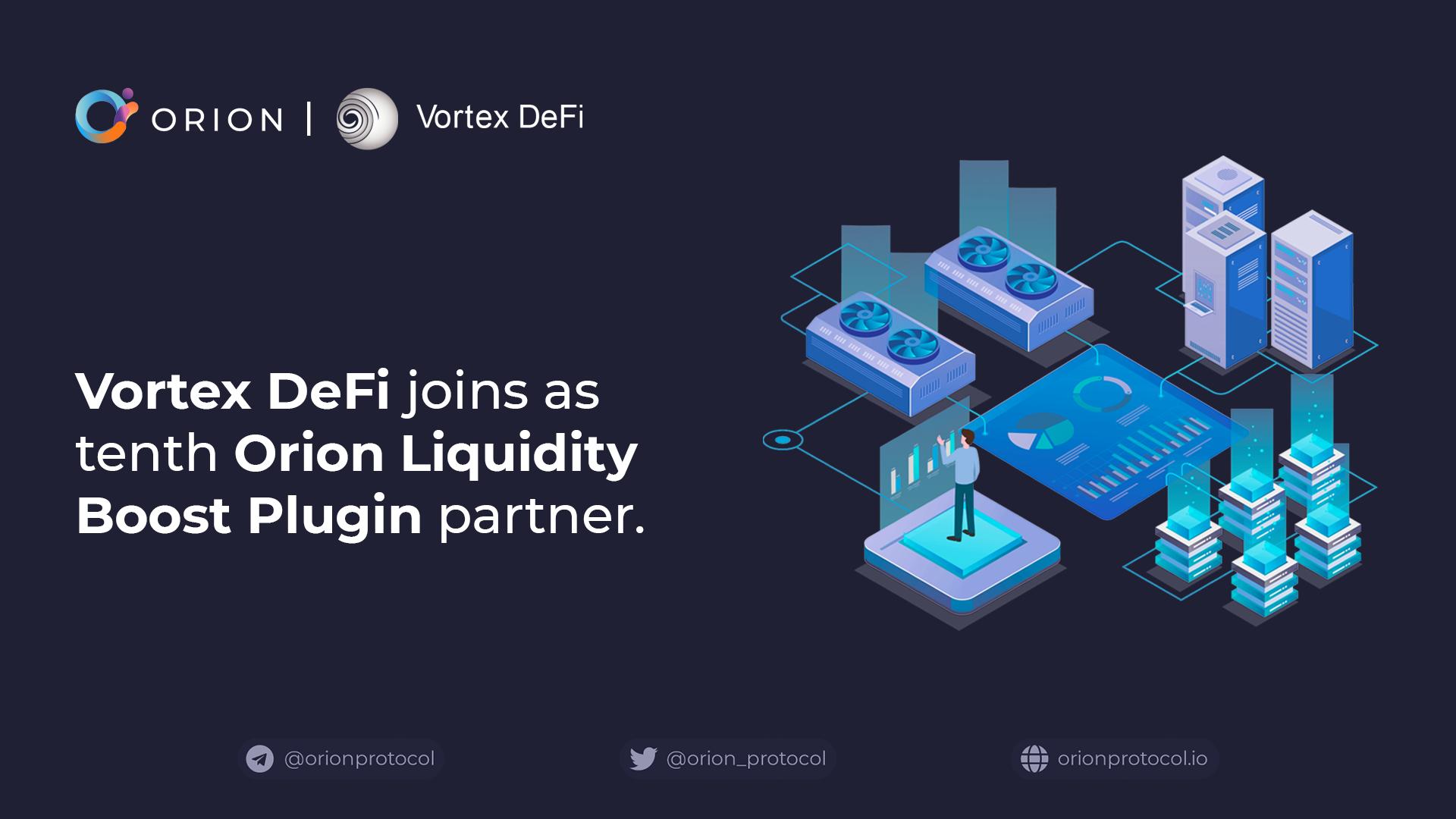 Vortex joins as Liquidity Boost Plugin partner